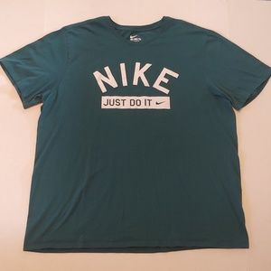 Green Nike Just Do It graphic tee